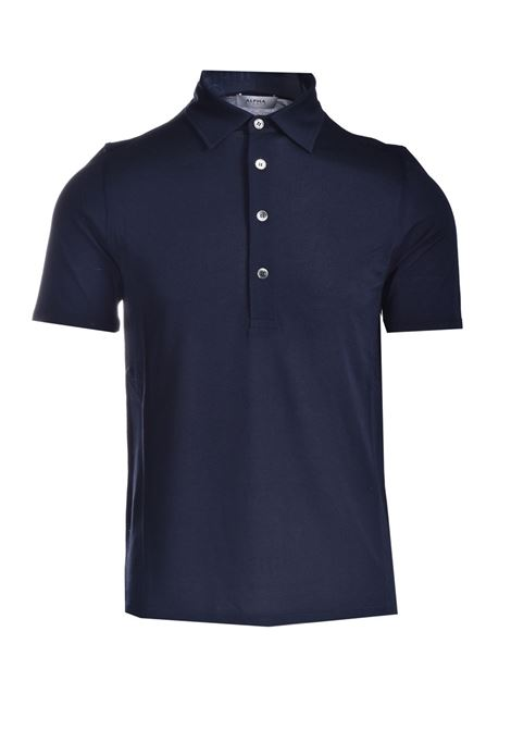 Polo shirt in silk and cotton pique ALPHA STUDIO | Polo Shirt | AU 4452/B1253