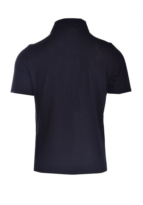 Polo shirt in silk and cotton pique ALPHA STUDIO | Polo Shirt | AU 4452/B1254