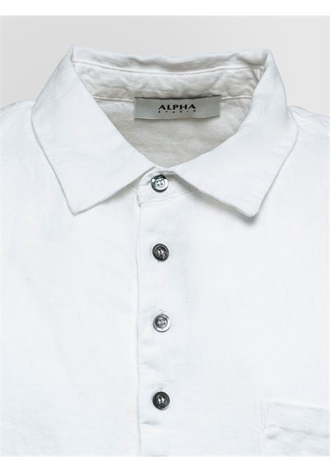 Shuttle linen polo shirt ALPHA STUDIO | Polo Shirt | AU 4472/B1240