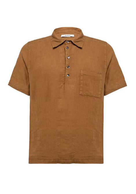 Shuttle linen polo shirt ALPHA STUDIO | Polo Shirt | AU 4472/B1241