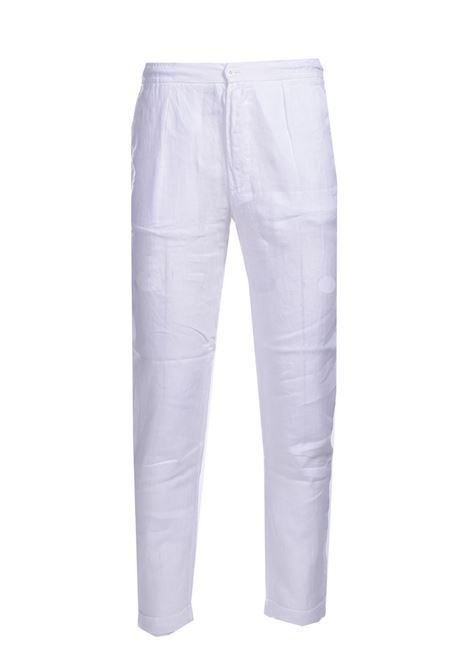 Shuttle linen trousers ALPHA STUDIO | Pants | AU 4473/Q1240