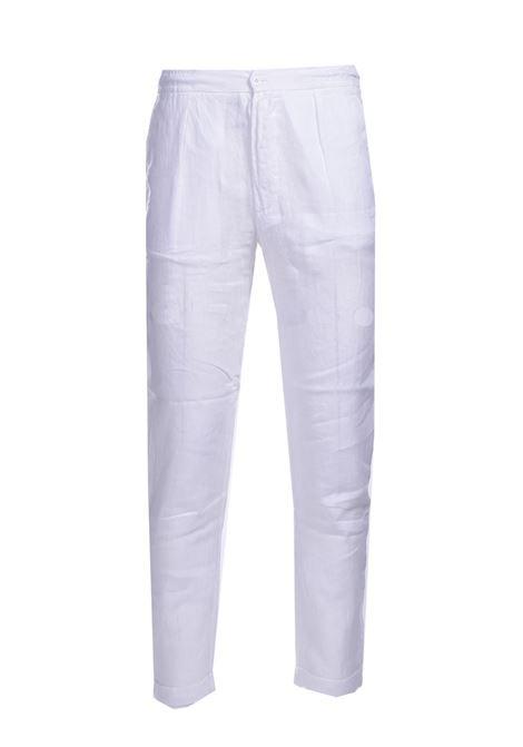 Pantalone in lino navetta ALPHA STUDIO | Pantaloni | AU 4473/Q1240