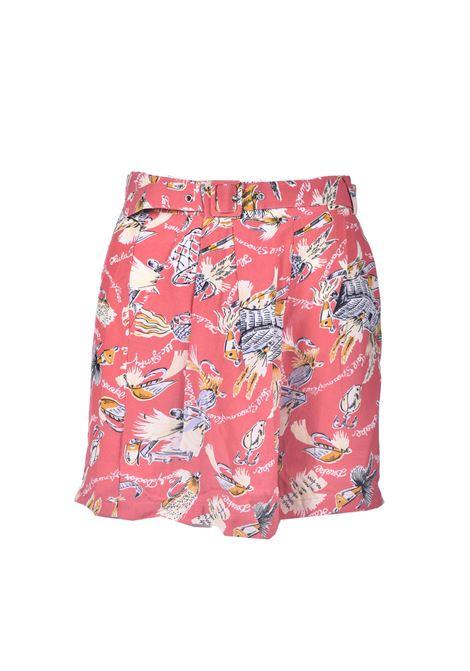 Shorts in natural fabric with print ANTIK BATIK | Shorts | HILO1SOTRED