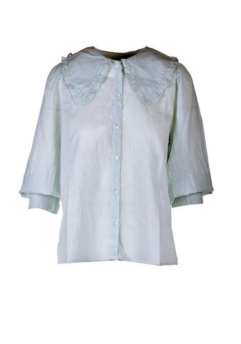 Blusa in voile di cotone verde acqua ANTIK BATIK | Bluse | MILADY1BLOLIGHT AQUA