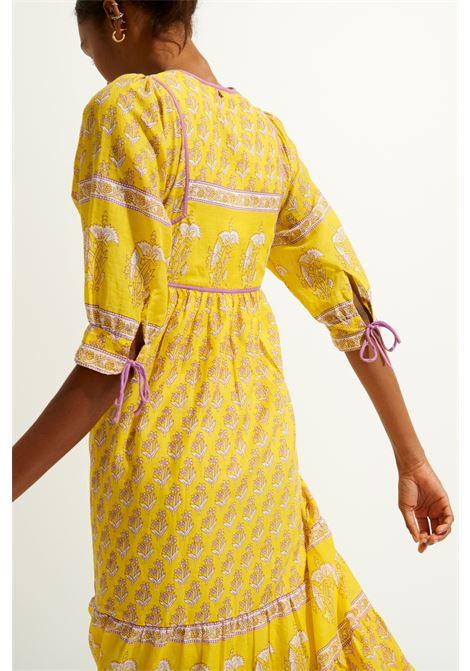 Maxi dress taglio impero in voile di cotone giallo ANTIK BATIK | Vestiti | MORI1LDRYELLOW