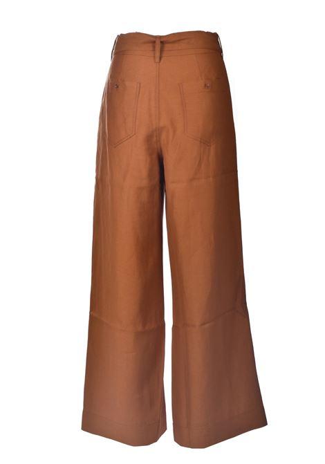 Rust high-waisted palazzo trousers ANTIK BATIK | Pants | OSCAR1PANRUST