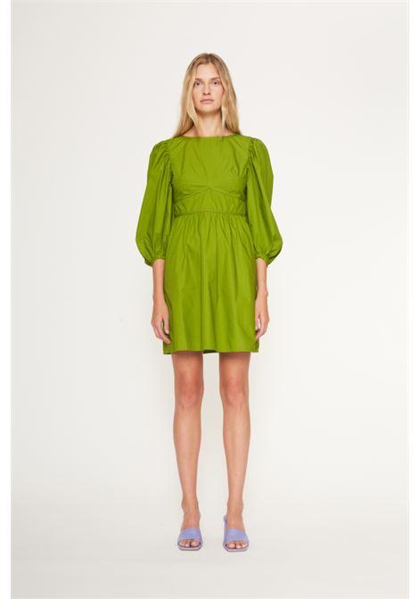 Abito corto in popeline di cotone verde smeraldo ATTIC AND BARN | Vestiti | ATDR014-AT100739