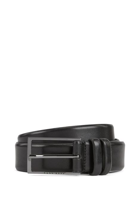Two-tone belt in vegetable tanned leather BOSS | Belts | 50239979001