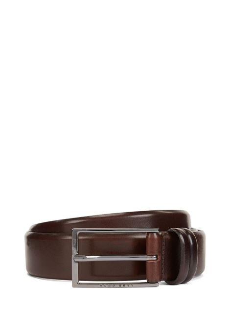 Two-tone belt in vegetable tanned leather BOSS | Belts | 50239979202
