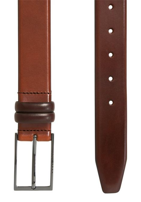 Two-tone belt in vegetable tanned leather BOSS | Belts | 50239979214