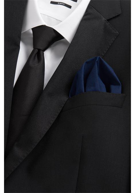 Pure cotton jacquard pocket square. Hugo Boss BOSS | Pocket Square | 50242752401
