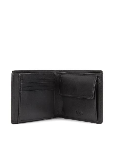 Portafoglio tri-fold in pelle liscia BOSS | Portafogli | 50250280001