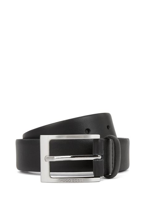 Nappa leather belt with brushed metal buckle BOSS | Belts | 50292248002