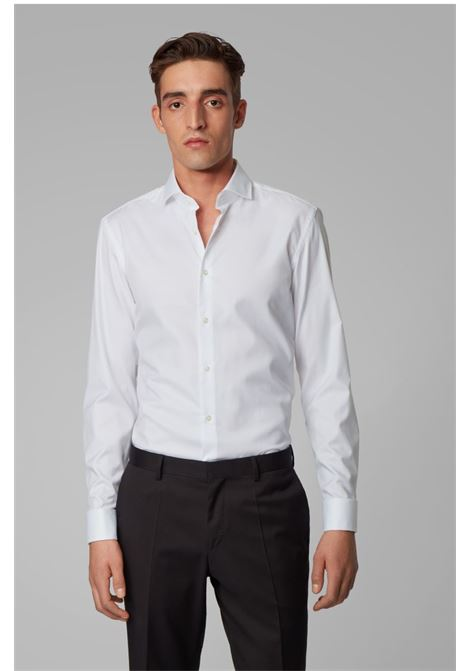 Slim-fit shirt in pure cotton BOSS | Shirts | 50308164100