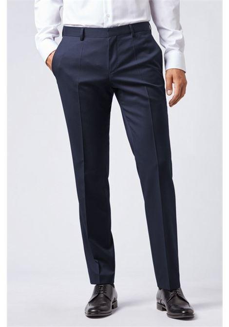Pantaloni classici slim fit in pura lana vergine BOSS | Pantaloni | 50318499C401