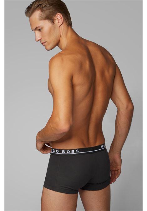 Boxer in cotone elasticizzato con elastico in vita in confezione da tre BOSS | Intimo | 50325403001