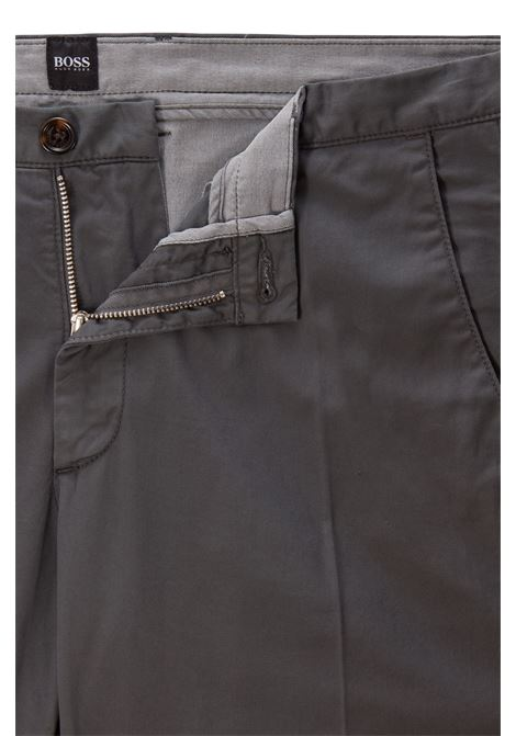 Slim fit chinos in stretch cotton gabardine BOSS   Pants   50325936032