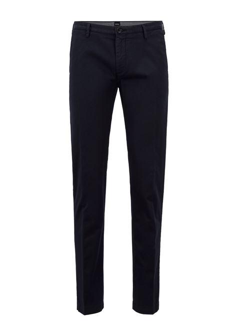 Slim fit chinos in stretch cotton gabardine BOSS   Pants   50325936402