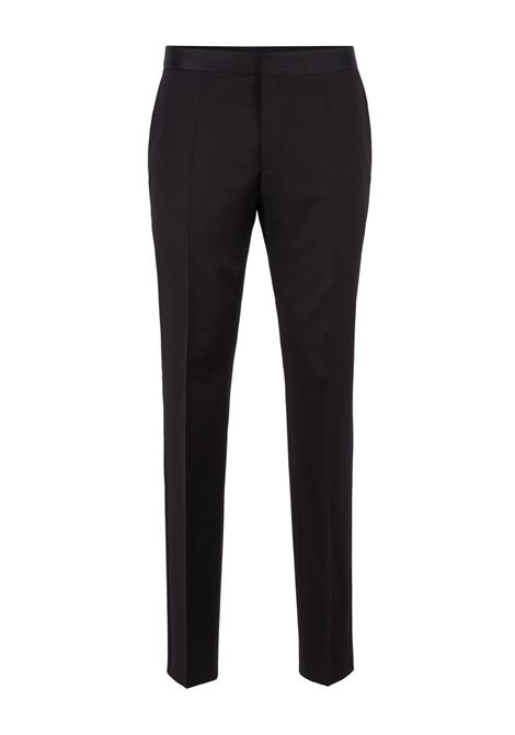 Pantaloni formali slim fit in lana vergine con finiture in seta BOSS | Pantaloni | 50375814001