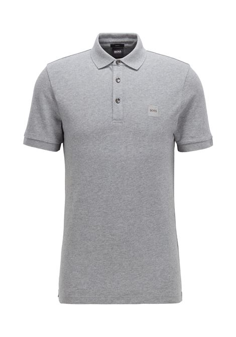 Slim fit polo shirt in washed piqué with logo application BOSS | Polo Shirt | 50378334051