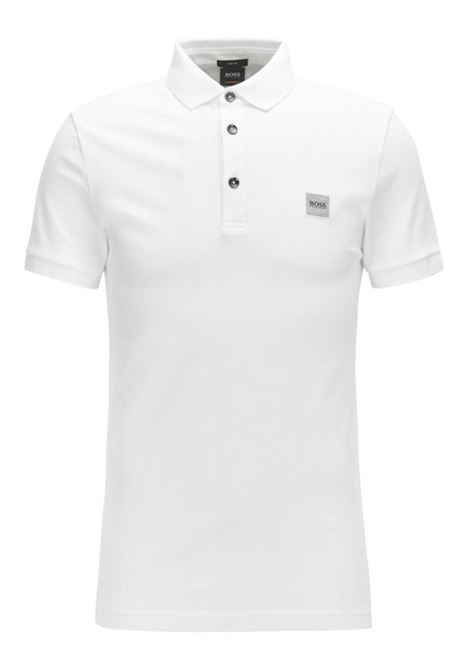 Slim fit polo shirt in washed piqué with logo application BOSS | Polo Shirt | 50378334100