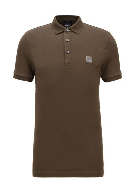 Polo slim fit in piqué lavato con applicazione con logo BOSS | Polo | 50378334342