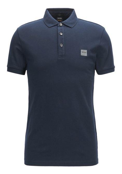 Polo slim fit in piqué lavato con applicazione con logo BOSS | Polo | 50378334404