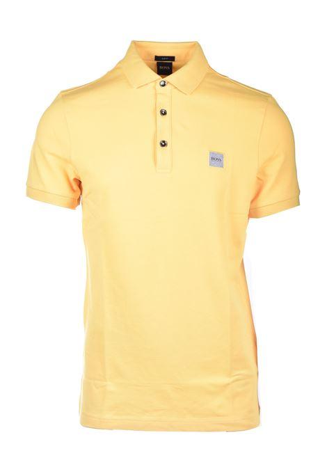 Slim fit polo shirt in washed piqué with logo application BOSS | Polo Shirt | 50378334736