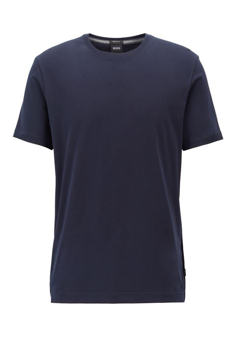 Tiburt55 T-shirt girocollo in puro cotone - blu scuro BOSS | T-shirt | 50379310402