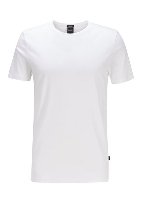 Slim-fit T-shirt in mercerised cotton BOSS | T-shirt | 50383822100
