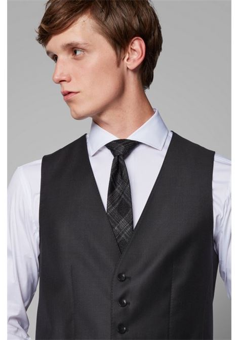 Tailored slim-fit waistcoat in virgin wool Loropiana super 150'S BOSS | Vest | 50384771061