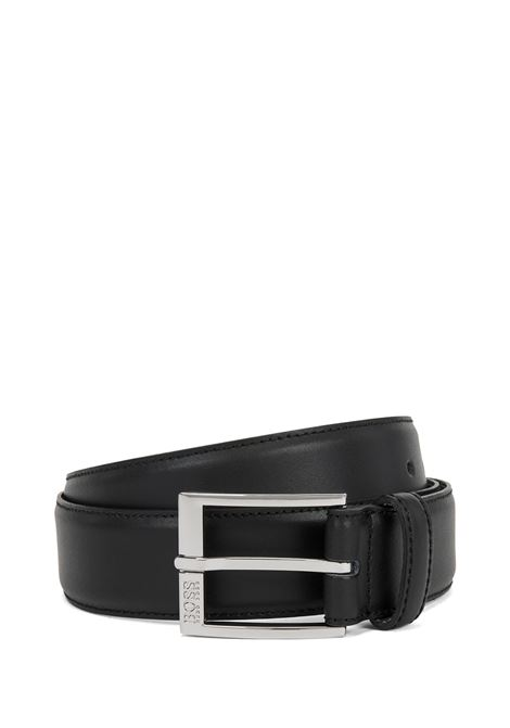 Smooth leather belt with tone-on-tone stitching BOSS | Belts | 50385849001