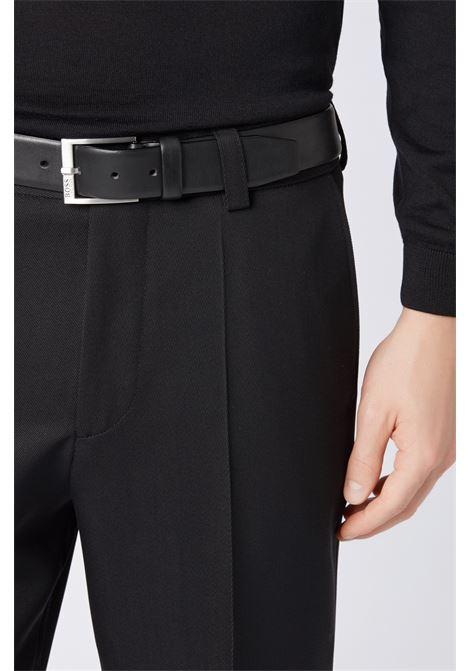 Casual black leather belt BOSS | Belts | 50389781001