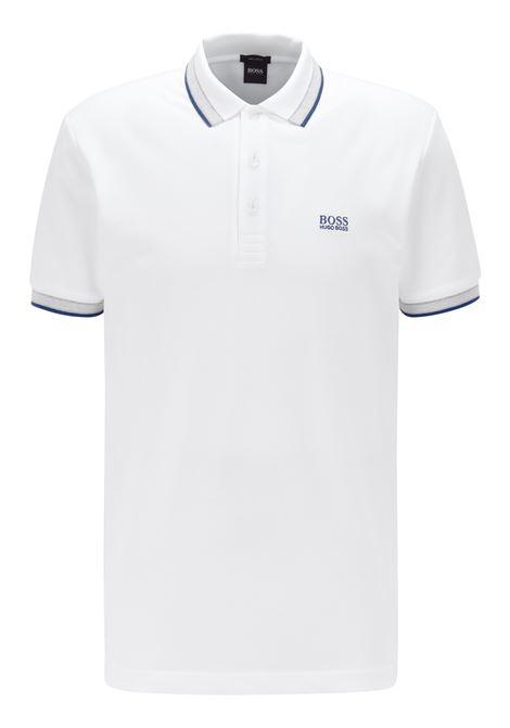 Cotton piqué polo shirt with contrasts BOSS | Polo Shirt | 50398302107