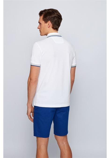 Polo in piqué di cotone con contrasti BOSS | Polo | 50398302107