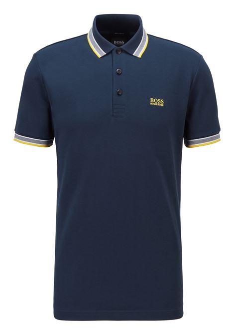 Cotton piqué polo shirt with contrasts BOSS | Polo Shirt | 50398302401