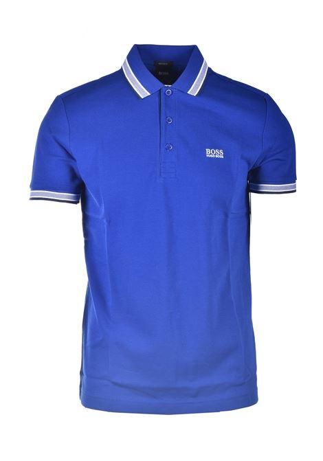 Cotton piqué polo shirt with contrasts BOSS | Polo Shirt | 50398302438