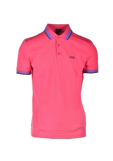 Cotton piqué polo shirt with contrasts BOSS | Polo Shirt | 50398302662