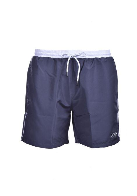 Boxer da bagno grigio scuro ad asciugatura rapida BOSS | Costumi | 50408104024