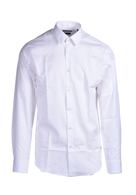 Camicia slim fit in popeline di cotone easy iron BOSS | Camicie | 50413751100