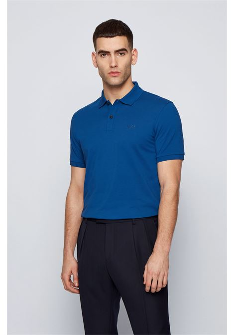 Polo pallas regular fit due bottoni - blu BOSS | Polo | 50425985429