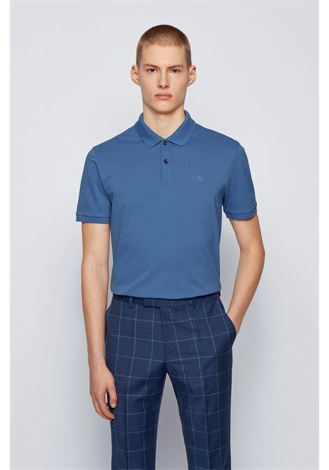 Polo pallas regular fit due bottoni - blu navy BOSS | Polo | 50425985489
