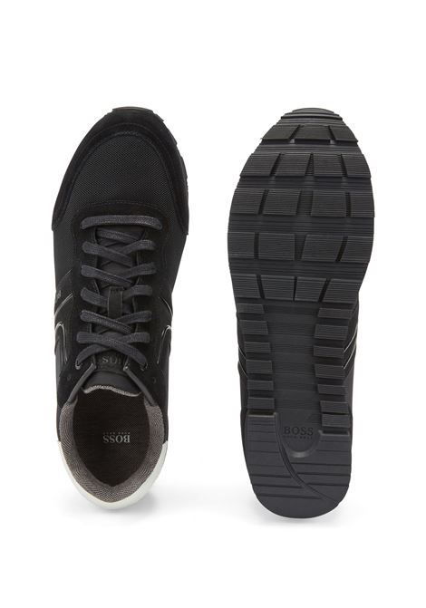 Sneakers stile runner in pelle scamosciata e rete BOSS | Sneakers | 50433661003