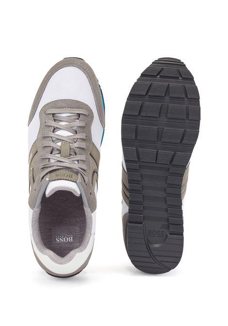 Sneakers stile runner in pelle scamosciata e rete BOSS | Sneakers | 50433661122