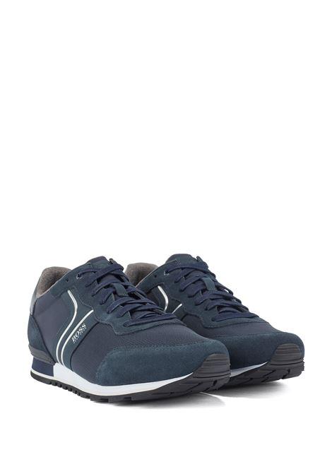 Sneakers stile runner in pelle scamosciata e rete BOSS | Sneakers | 50433661402