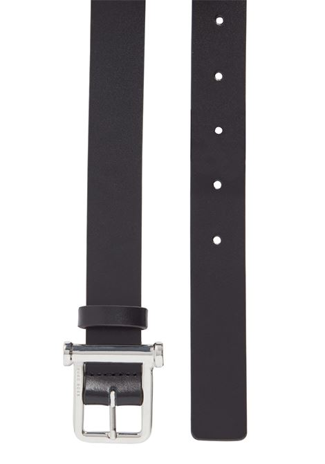 Black semi-shiny leather belt BOSS | Belts | 50435344002