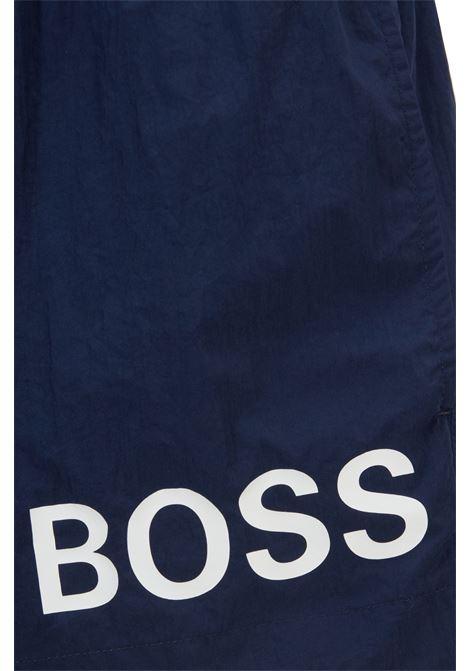 Boxer da mare corti in tessuto ad asciugatura rapida con logo BOSS | Costumi | 50437378413