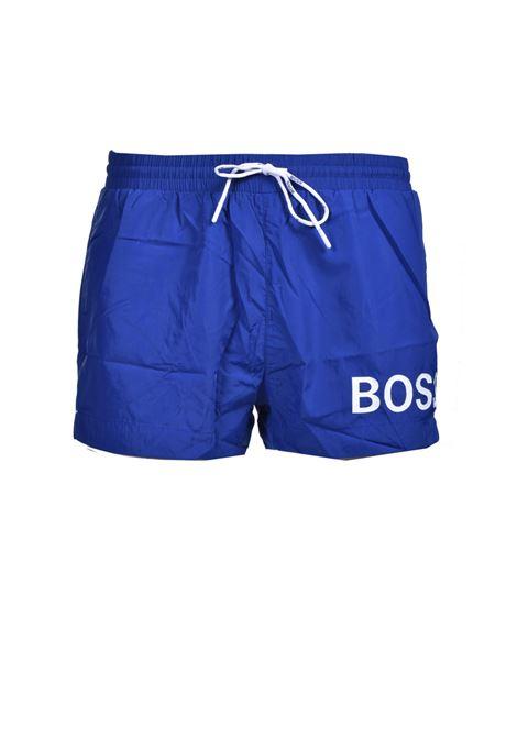 Boxer da mare corti in tessuto ad asciugatura rapida con logo BOSS | Costumi | 50437378423