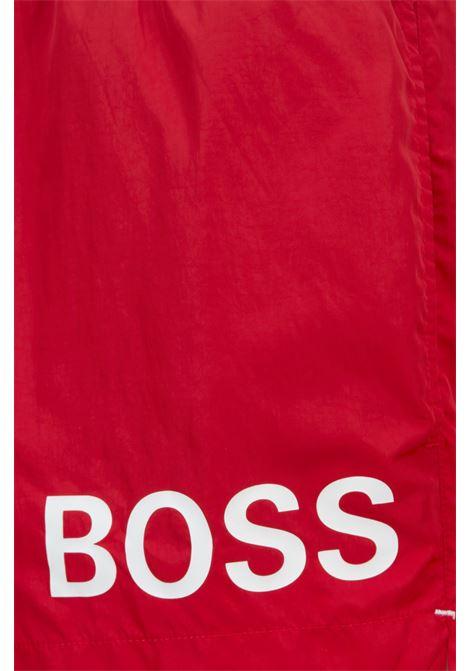 Boxer da mare corti in tessuto ad asciugatura rapida con logo BOSS | Costumi | 50437378628