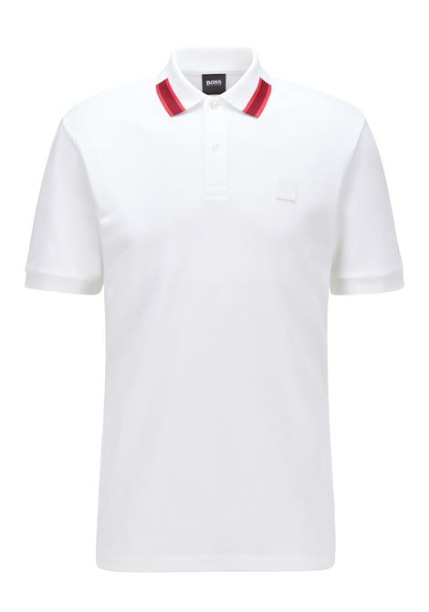 Mercerized cotton polo shirt with contrasting collar BOSS | Polo Shirt | 50442135100
